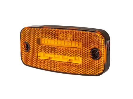 Strands Gul LED hliðarljós með blikkljósi.